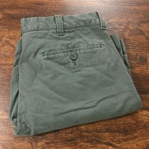 J.CREW Mid Rise Flat Front Green Casual Flex Chino